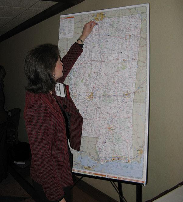 Paige with Membership Map